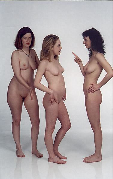 Naked portrait family of